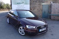USED 2014 14 AUDI A3 1.4 TFSI S LINE 5d 139 BHP Full Audi Service History Only £30 Road Tax