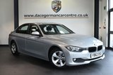 """USED 2013 62 BMW 3 SERIES 2.0 320D EFFICIENTDYNAMICS 4DR 161 BHP * NO ADMIN FEES * FINISHED IN STUNNING GLACIER METALLIC SILVER WITH FULL LEATHER INTERIOR + SATELLITE NAVIGATION + BLUETOOTH + HEATED SEATS + DAB RADIO + CRUISE CONTROL + LIGHT PACKAGE + AUTO AIR CON + RAIN SENSORS + PARKING SENSORS + 16"""" ALLOY WHEELS"""