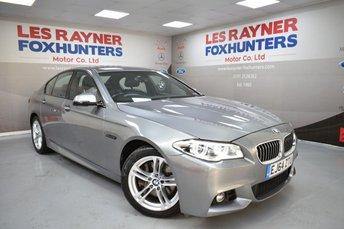 2014 BMW 5 SERIES 2.0 525D M SPORT 4d AUTO 215 BHP £13499.00