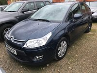 USED 2010 10 CITROEN C4 1.6 VTR PLUS HDI EGS 5d 107 BHP MOT 08/20 BLUE MET WITH CLOTH TRIM. 16 INCH ALLOYS. COLOUR CODED TRIMS. AIR CON. R/CD PLAYER. MOT 08/20. AGE/MILEAGE RELATED SALE. PART EXCHANGE CLEARANCE CENTRE - LS23 7FQ. TEL 01937 849492 OPTION 4