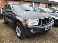 USED 2005 55 JEEP GRAND CHEROKEE 3.0 V6 CRD LIMITED 5d 215 BHP LEATHER TOWBAR MOT 06/20 4WD. GREEN MET WITH GREY LEATHER TRIM. ELECTRIC MEMORY HEATED SEATS. CRUISE CONTROL. 17 INCH ALLOYS. COLOUR CODED TRIMS. PARKING SENSORS. CLIMATE CONTROL. MFSW. TOW BAR. R/CD PLAYER. TOWBAR. MOT 06/20. AGE/MILEAGE RELATED SALE. PART EXCHANGE CLEARANCE CENTRE - LS23 7FQ. TEL 01937 849492 OPTION 4