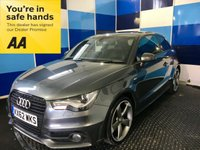 "USED 2012 62 AUDI A1 1.4 TFSI BLACK EDITION 3d AUTO 185 BHP A truely stunning example of this very highly prized sporty hatchback finished in unmarked metalic Daytona grey complemented with 18"" two tone alloys,this car comes with half leather interior,xenon headlights with headlamp wash,rear p/sensors,cd radio with usb & aux imputs,digital climate control,paddle shift gearchange,auto lights and wipers,on board computer.voice control system,bluetooth phone conectivity,plus all the usual Audi refinements ,definitely one to con sider n eeds to be viewed ."
