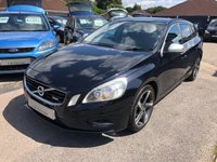USED 2011 60 VOLVO V60 2.0 D3 R-DESIGN 5d 161 BHP GREAT SPEC AND FUEL ECONOMY HALF LEATHER CLIMATE SUPPLIED WITH ANEW MOT
