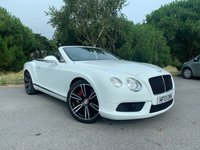 USED 2013 13 BENTLEY CONTINENTAL GTC 4.0 GTC V8 2d AUTO  CONVERTIBLE SUPERB COLOUR SCHEME 4.0 GTC MULLINER CONVERTIBLE IN WHITE 2 TONE LEATHER