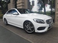 USED 2015 15 MERCEDES-BENZ C CLASS 2.1 C220 BLUETEC AMG LINE PREMIUM 4d AUTO 170 BHP ****FINANCE ARRANGED****PART EXCHANGE WELCOME***LEATHER*PAN ROOF*F+R PS W/ CAMERA*BTOOTH*USB*DAB*£30 TAX