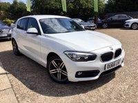 2016 BMW 1 SERIES 2.0 118D SPORT 5d 147 BHP £11000.00