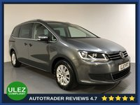 USED 2017 17 VOLKSWAGEN SHARAN 2.0 SE NAV TDI BLUEMOTION TECHNOLOGY DSG 5d AUTO 148 BHP FULL HISTORY - 7 SEATS - SAT NAV - PARKING SENSORS - AIR CON - BLUETOOTH - DAB RADIO - CRUISE