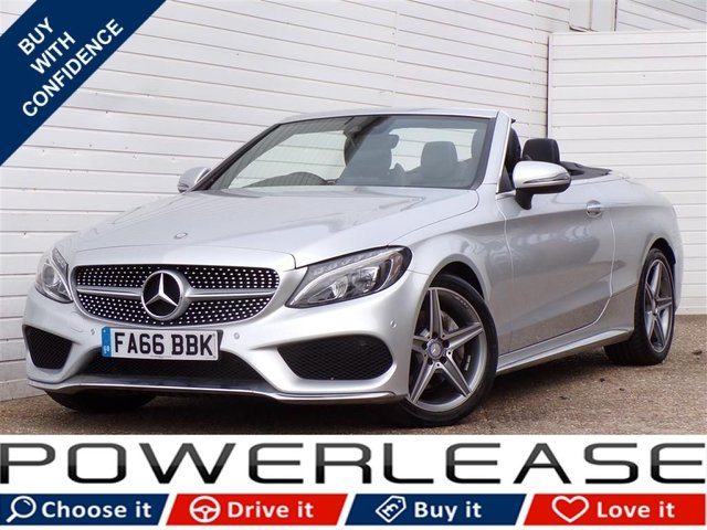 USED 2017 66 MERCEDES-BENZ C CLASS 2.1 C 220 D AMG LINE 2d AUTO 168 BHP LEATHER SAT NAV FULL MERC HIST