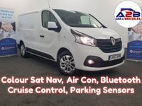 2017 RENAULT TRAFIC 1.6 SPORT NAV DCI 120 BHP Colour Sat Nav, Air Con, Bluetooth, Alloys, Reversing Sensors, Cruise Control and much more..... £11980.00