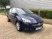 USED 2017 67 VAUXHALL CORSA 1.4 ENERGY AC 5d AUTO 89 BHP A well cared for October 2017 Vx Corsa 1.4 Energy 5dr AUTO in blue with just 16000 miles.