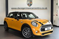 """USED 2016 16 MINI HATCH COOPER 2.0 COOPER SD 5DR 168 BHP * NO ADMIN FEES * FINISHED IN STUNNING VOLCANO ORANGE WITH CARBON BLACK UPHOLSETRY + BLUETOOTH + DAB RADIO + SPORT SEATS + PERFORMANCE CONTROL + FOG LIGHTS + AIR CONDITIONING + 18"""" ALLOY WHEELS"""