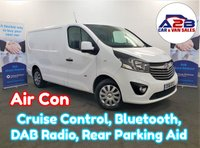 2016 VAUXHALL VIVARO 1.6 CDTI SPORTIVE in White with Air Conditioning, Bluetooth, Cruise Control, Front Fog Lamps, Rear Parking Sensors and more £9980.00