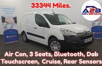 2016 CITROEN BERLINGO 1.6 625 ENTERPRISE HDI  Low Mileage 33344, Air Con, 3 Seats, Cruise control, Dab/Touchscreen, Rear Park Sensors,   £6680.00
