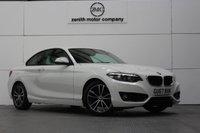 USED 2017 67 BMW 2 SERIES 1.5 218I SPORT 2d AUTO 134 BHP