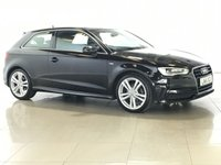 USED 2015 15 AUDI A3 1.4 TFSI S LINE 3d AUTO 148 BHP SAT NAV | PART LEATHER | DAB |