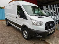 2016 FORD TRANSIT 350 L3 H2 LWB Medium roof 125 PS *ONLY 30000 MILES* £12495.00
