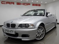 2003 BMW 3 SERIES 3.0 330CI (231 BHP) SPORT CONVERTIBLE..LOW MILES !! £3990.00