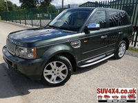 USED 2006 55 LAND ROVER RANGE ROVER SPORT 2.7 TDV6 HSE 5d 188 BHP BODYKIT LEATHER MOT 02/20 4WD. SATELLITE NAVIGATION. BODYKIT. GREEN MET WITH FULL BEIGE LEATHER TRIM. ELECTRIC MEMORY HEATED SEATS. CRUISE CONTROL. SIDE STEPS. 19 INCH ALLOYS. COLOUR CODED TRIMS. PRIVACY GLASS. PARKING SENSORS. BLUETOOTH PREP. SUNROOF. CLIMATE CONTROL. R/CD PLAYER. MFSW. TOW BAR. MOT 02/20. AGE/MILEAGE RELATED SALE. PART EXCHANGE CLEARANCE CENTRE - LS23 7FQ. TEL 01937 849492 OPTION 4