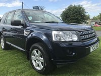 2012 LAND ROVER FREELANDER 2.2 TD4 GS 4x4 one owner full Land Rover service history  black leather  £6995.00