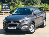 USED 2018 18 HYUNDAI TUCSON 1.7 CRDI S BLUE DRIVE 5d 114 BHP Delivery miles, Bluetooth, Choice of Black / grey