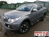USED 2016 16 MITSUBISHI L200 2.4 DI-D 4X4 WARRIOR DCB 1d 178 BHP SATNAV LEATHER LOAD COVER ONE OWNER (£14,900 + £2,980 VAT). FACELIFT 4WD. HARD TOP LOAD COVER. SATELLITE NAVIGATION. STUNNING GREY MET WITH BLACK LEATHER TRIM. ELECTRIC HEATED SEATS. CRUISE CONTROL. SIDE STEPS. 17 INCH ALLOYS. COLOUR CODED TRIMS. TINTED GLASS. REVERSE ASSIST CAMERA. CARGO LINING. BLUETOOTH KIT. CLIMATE CONTROL WITH AIR CON.PAS. R/CD PLAYER. MFSW. MOT 05/20. ONE OWNER FROM NEW. SERVICE HISTORY. PRESTIGE SUV CENTRE LS24 8EJ. TEL 01937 849492 OPTION 1.