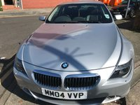 USED 2004 04 BMW 6 SERIES 4.4 645CI 2d AUTO 329 BHP