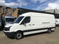 USED 2017 17 VOLKSWAGEN CRAFTER 2.0TDI CR35 LWB HIGH ROOF BMT. EURO6. VW WARRANTY. PX VW WARRANTY 06.2020. EURO 6. FINANCE. PX WELCOME