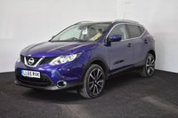 USED 2016 65 NISSAN QASHQAI 1.6 DCI TEKNA 5d 128 BHP LEATHER + HEATED SCREEN + HEATED SEATS + NAV + REVERSE CAM