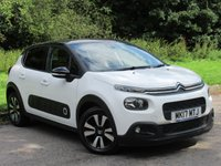 USED 2017 17 CITROEN C3 1.6 BLUEHDI FLAIR S/S 5d 98 BHP MANUFACTURERS WARRANTY MARCH 2020