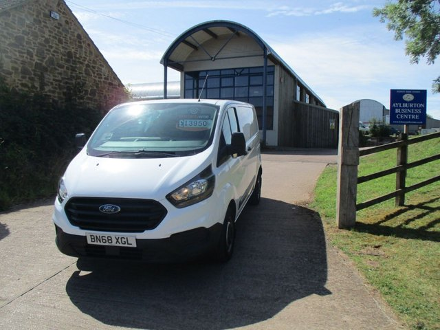 2018 68 FORD TRANSIT CUSTOM 2.0 300 TURBO DIESEL PANEL VAN L1 H1 105 BHP