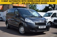 USED 2014 14 PEUGEOT EXPERT 2.0 TEPEE COMFORT L1 HDI 5d AUTO 163 BHP A multi use vehicle that can be used as a car or van. This is a 2014 Peugeot Expert INDEPENDENCE SE 5dr in Grey metallic with a single tailgate and WHEELCHAIR ACCESS RAMP, LOWERED FLOOR, WINCH AND ELECTRIC BELTS. 5 SEATS, AIR CON, PRIVACY GLASS AND TWIN SIDE SLIDING DOORS. 1 owner with records for 5 services.