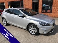 """USED 2016 16 VOLVO V40 2.0 D3 R-DESIGN NAV 5DOOR 148 BHP ZERO Road Tax   :   DAB Radio   :   Speed Limiter   :   Phone Bluetooth Connectivity      Climate Control / Air Conditioning   :   R-Design Steering Wheel   :   Heated Front Seats      Rear Parking Sensors   :   17"""" Alloy Wheels   :   2 Keys   :   Full Volvo Service History"""