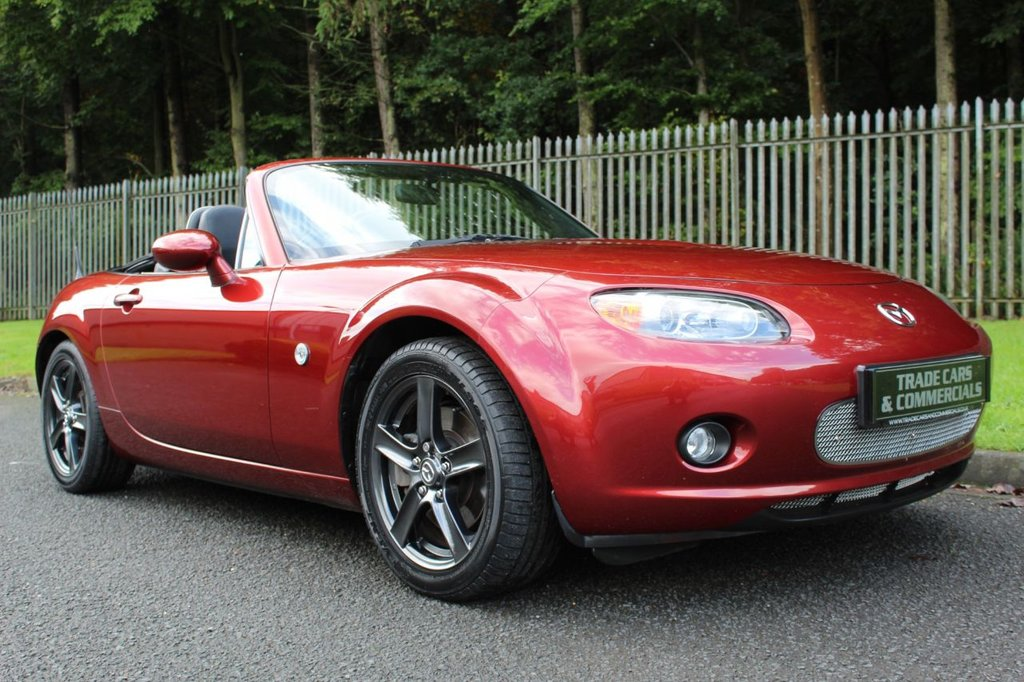 USED 2008 58 MAZDA MX-5 1.8 I 2d 125 BHP A CLEAN EXAMPLE WITH FULL BLACK LEATHER AND BLUETOOTH!!!