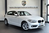 """USED 2016 16 BMW 1 SERIES 1.5 116D SE 5DR 114 BHP excellent service history * NO ADMIN FEES * FINISHED IN STUNNING ALPINE WHITE WITH ANTHRACITE UPHOLSTERY + EXCELLENT SERVICE HISTORY + SATELLITE NAVIGATION + BLUETOOTH + DAB RADIO + RAIN SENSORS + FOG LIGHTS + AIR CONDITIONING + 16"""" ALLOY WHEELS"""