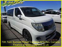 2004 NISSAN ELGRAND Highway Star 3.5  Auto, 2 Power Doors, 8 Seats, Electric Curtains, Pan Roof £7500.00
