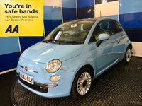 USED 2013 63 FIAT 500 1.2 LOUNGE 3d 69 BHP A stunning example of this modern classic finished in unmarked volare blue enhanced by multispoke alloy wheels.This car comes with cd radio with usb,blue and me,start stop,electric windows/mirrors remote central locking,panoramic glass roof,rear parking sensors,plus all the usual refinements. It has been family owned coming with full service history,road tax of only £30 a year a combined ecconomy of 65.7 mpg,and low insurance group 6 make it an ideal first car,must be viewed to be appreciated .