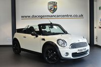 "USED 2011 60 MINI CONVERTIBLE 1.6 ONE 2DR 98 BHP excellent service history * NO ADMIN FEES * FINISHED IN STUNNING PEPPER WHITE WITH CLOTH UPHOLSTERY + EXCELLENT SERVICE HISTORY + TELEPHONE CONNECTION + DAB RADIO + LIGHT PACKAGE + AUTO AIR CON + PARKING SENSORS + 16"" ALLOY WHEELS"