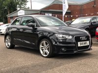 USED 2011 11 AUDI A1 1.6 TDI S LINE 3d 103 BHP HALF LEATHER TRIM + SERVICE RECORD * 2 KEYS *  FULL YEAR MOT * CLIMATE CONTROL *17 INCH ALLOYS *