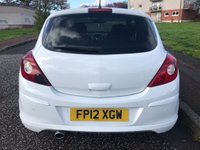USED 2012 12 VAUXHALL CORSA 1.2 i 16v SXi 3dr 2 Owners ! Low Miles ! Mint !