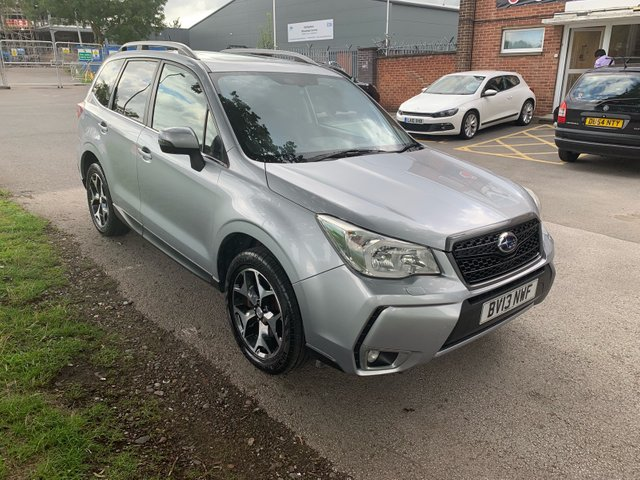 USED 2013 13 SUBARU FORESTER 2.0 I XT 5d AUTO 237 BHP STUNNING WELL MAINTAINED EXAMPLE WITH 5 SERVICE STAMPS TO 24K, ALLOY WHEELS, SUN ROOF, HEATED LEATHER SEATS, RADIO/CD/USB/AUX, CRUISE CONTROL, CLIMATE CONTROL, SATELLITE NAVIGATION