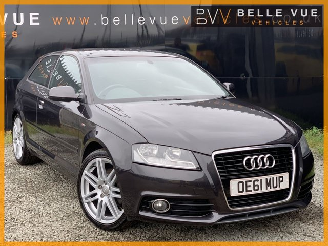 USED 2012 61 AUDI A3 1.6 TDI S LINE 3d AUTO 103 BHP *ONLY 61K MILES, BOSE SOUND UPGRADE, 18'' ALLOYS!*