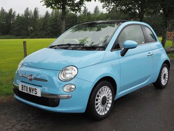 2011 FIAT 500 1.2 LOUNGE 3d 69 BHP £4395.00