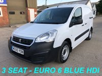 USED 2016 65 PEUGEOT PARTNER 1.6 BLUE HDI SE L1 850 100 BHP