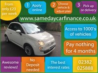 USED 2013 13 FIAT 500 1.2 LOUNGE 3d 69 BHP CALL OUR SUPER FRIENDLY TEAM FOR MORE INFO 02382 025 888