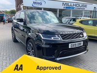 USED 2019 19 LAND ROVER RANGE ROVER SPORT 3.0 SDV6 HSE 5d AUTO 306 BHP VAT QUALIFYING  Panoramic Roof Heated Steering Wheel Santorini Black Metallic with Ivory Leather Front and Rear Mud Flaps Life Shine Ebony Premium Headlining  Range Rover Sport 3.0 SDV6 HSE 5d AUTO 306 BHP Panoramic Roof Heated Steering Wheel Santorini Black Metallic with Ivory Leather Front and Rear Mud Flaps Life Shine Ebony Premium Headlining