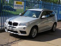 USED 2013 63 BMW X3 2.0 XDRIVE20D M Sport 5dr Auto Sat nav Leather Rear camera Heated seats Bluetooth & audio Finance arranged Part exchange available Open 7 days