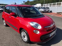 USED 2013 13 FIAT 500L 1.4 POP STAR 5d 95 BHP Bright Red with two tone interior, touch screen Media connect, A/C & service history
