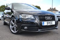USED 2011 11 AUDI A3 2.0 SPORTBACK TDI BLACK EDITION 5d 138 BHP STUNNING A3 BLACK EDITION-1 FORMER KEEPER- SERVICE HISTORY