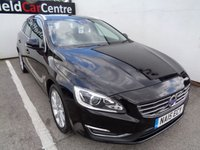USED 2015 15 VOLVO V60 2.0 D4 SE LUX NAV 5 door AUTO 178 BHP black Alloy wheels satellite navigation climate control mot july 2020 full service history