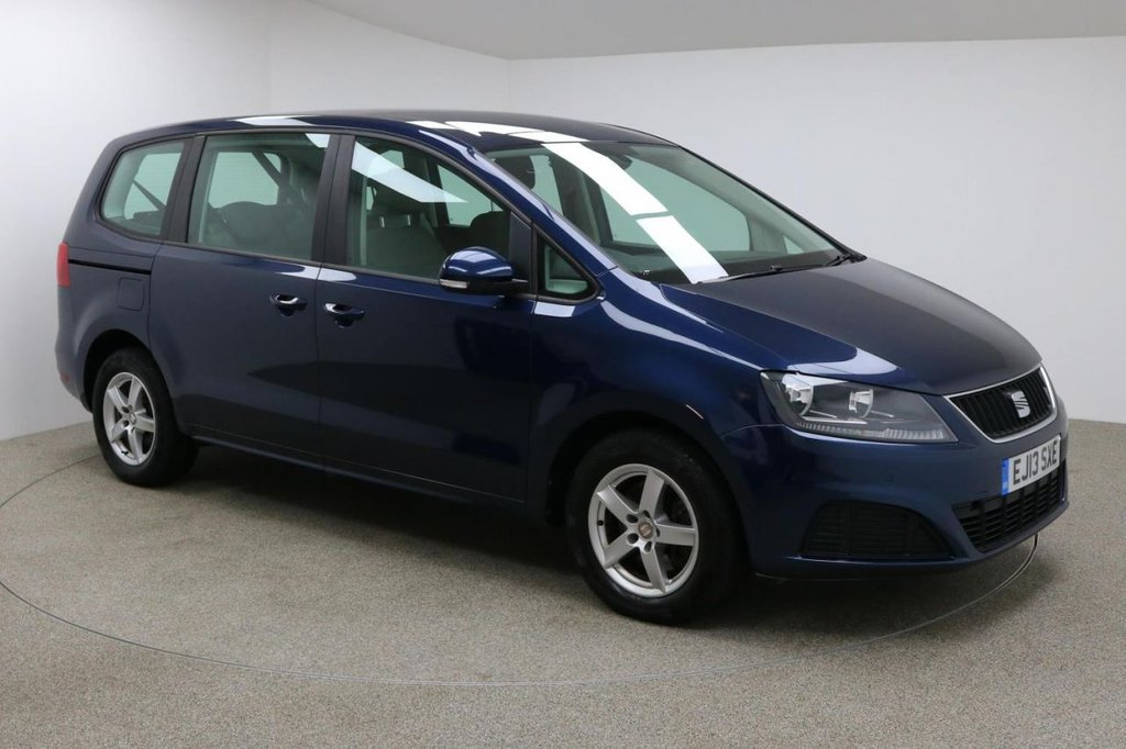 USED 2013 13 SEAT ALHAMBRA 2.0 CR TDI ECOMOTIVE S 5d 140 BHP Finished in a stunning drak blue is this Seat Alhanbra + AIR CON + PARKING SENSORS